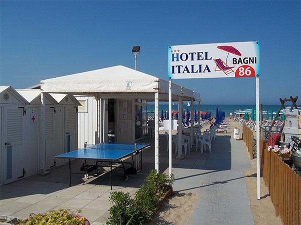 spiaggia hotel italia di senigallia